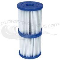 Pack 2 cartouches type I pour filtre à cartouche 1.249 l./h. Bestway