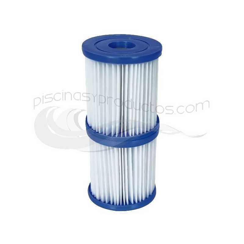 Pack de 2 filtros de cartucho tipo I para depuradoras 1.249 l/h
