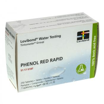 Boîte réactifs RED PHENOL RAPID pour pooltester (trousse manuelle), 250 un. Lovibond