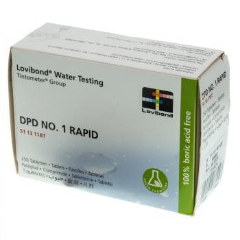 Boîte réactifs  DPD 1 RAPID pour pooltester (trousse manuelle), 250 un. Lovibond