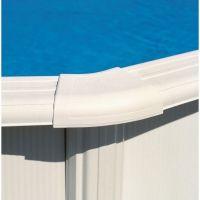 Enjoliveur plage, zone courbe, blanc, piscines Gre. Réf. PIN15P.