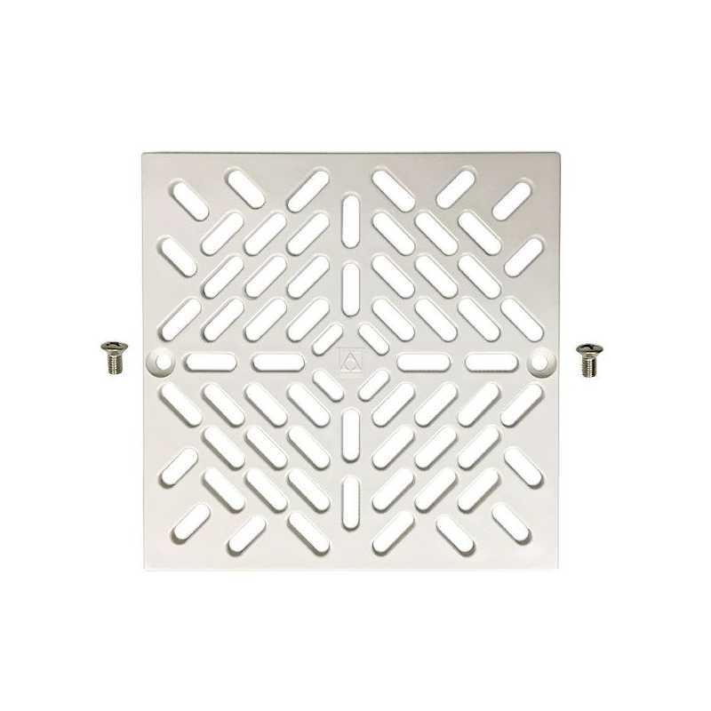 Kit grille bonde de fond blanche carrée + vis Astralpool