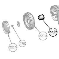Fixation roue Sophia nettoyeur automatique Astralpool