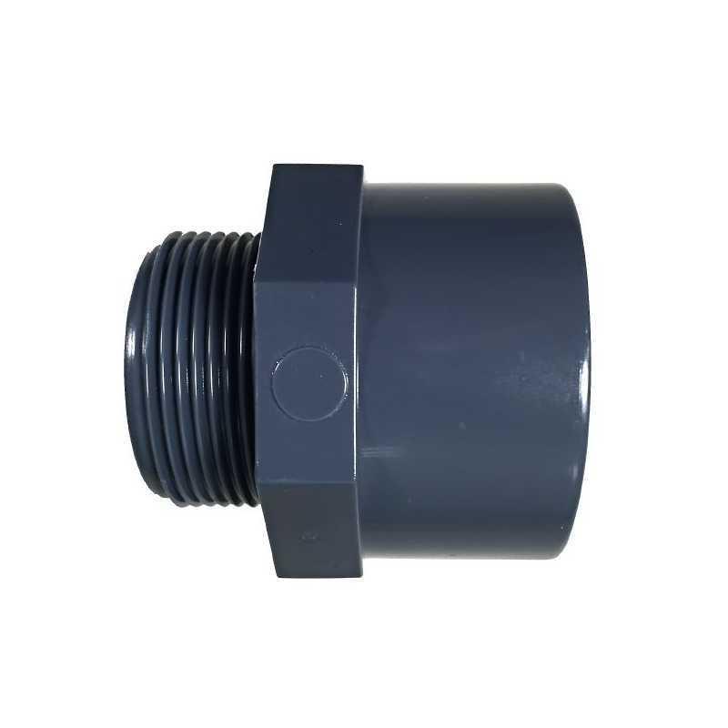 """Terminal PVC rosca macho 50 mm de 1 1/2"""""""