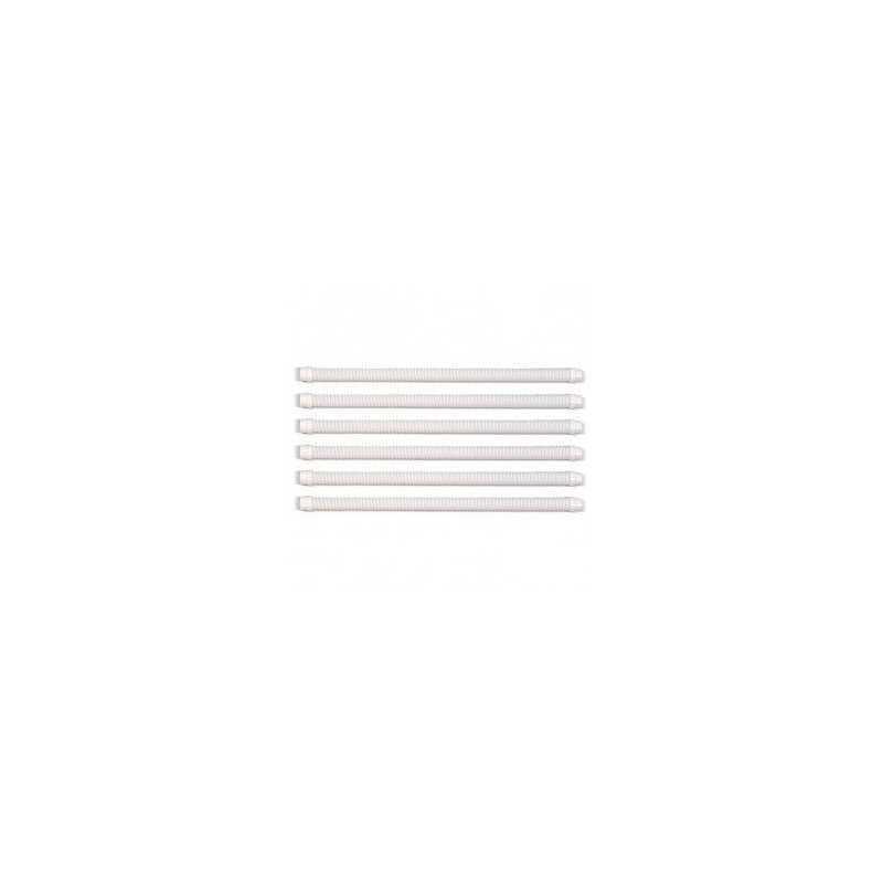 Juego de 6 tubos de 1m de color blanco limpiafondos Zodiac Zoom,   Kontiki 2, Manta y Manta II