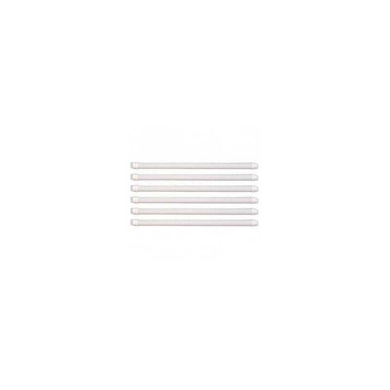 Jeu de 6 tuyaux de 1 m. couleur blanche nettoyeur automatique Zodiac Zoom, G2, Kontiki 2, Pacer,  Manta et Manta II