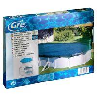 Bâche hiver pour piscines hors-sol ovale 610x410 cm. Gre CIPROV501