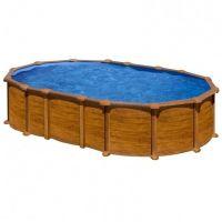 Piscinas ovalada Star Pool Gre imitación madera 730x375x132 cm PROV7388WO