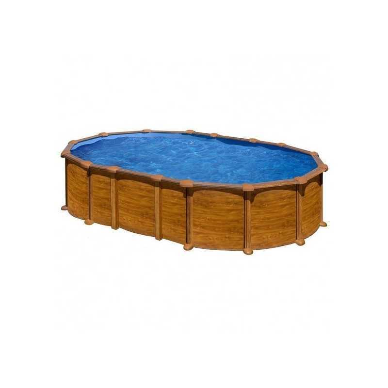 Piscinas ovalada Star Pool Gre imitación madera 610x375x132 cm PROV6188WO