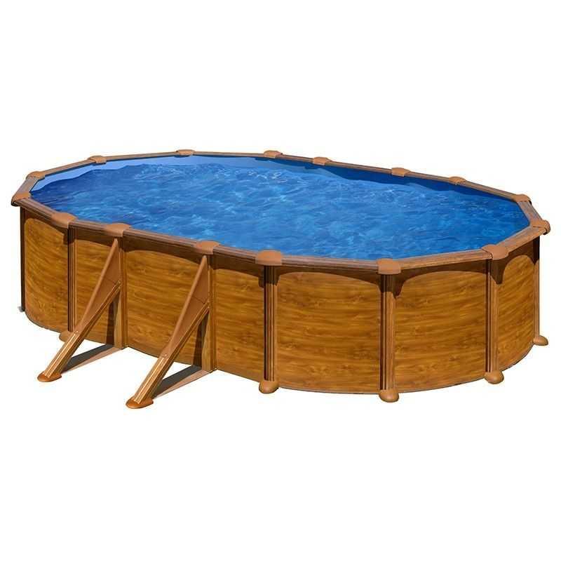Piscina ovalada Star Pool Gre imitación madera 730x375x132 cm PROV738WO