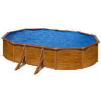 Piscina ovalada Star Pool Gre imitación madera 500 x 300 x 120 cm P500W