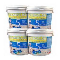 Pack de 4 cubos de cloro triple acción de 5 Kg c/u