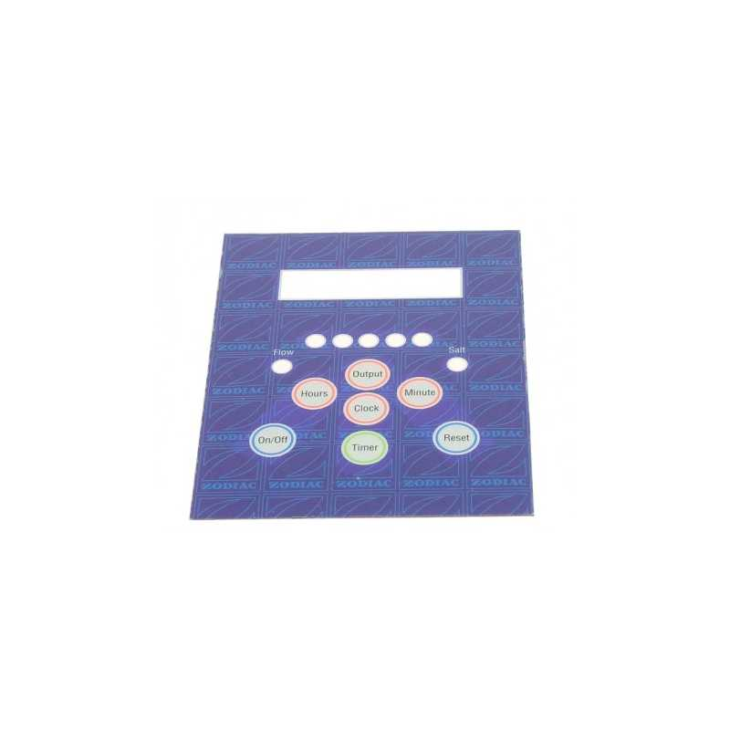 Sticker panneau de contrôle électrolyseur au sel Ei Zodiac