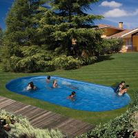 Piscina ovalada Gre enterrada Star Pool 700x320x120 cm PEOV7027