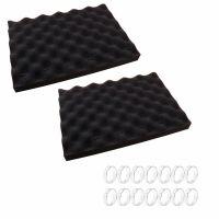 Esponjas espuma negras con clips de fijación para Limpiafondos Zodiac
