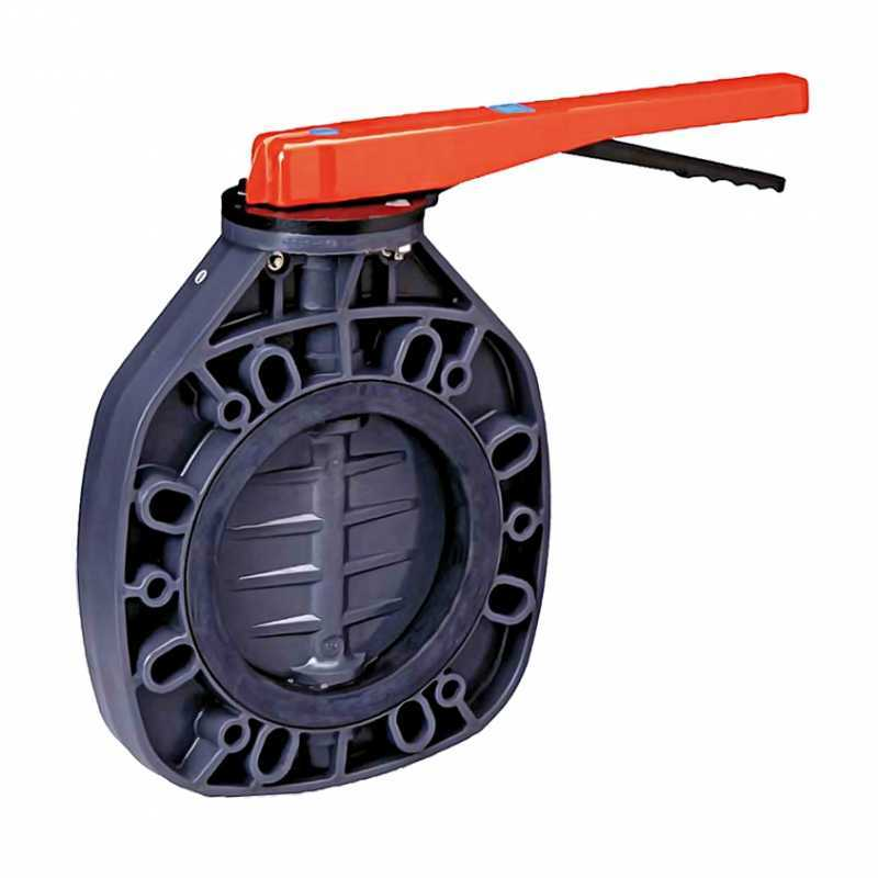 Válvula de mariposa en PVC de Ø 160 serie Classic EPDM de Cepex