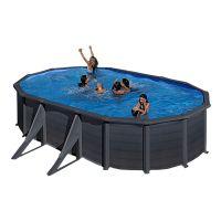 Piscina ovalada Star Pool Gre imitación grafito. 500x300x120 cm. P500GF.