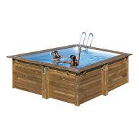 Piscina cuadrada de madera Gre Sunbay Carra. 300x300x119 cm.