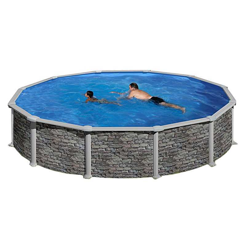 Piscina desmontable redonda c rcega 460x132 cm for Repuesto piscina gre
