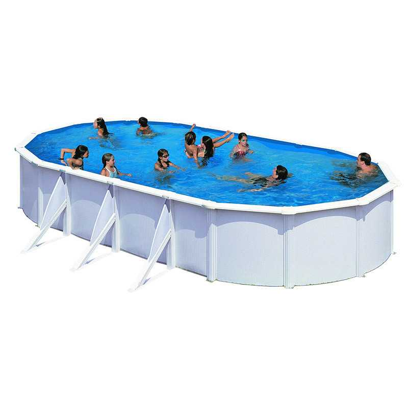 Piscina ovalada fidji 800x470x120 kit810eco de gre for Repuesto piscina gre