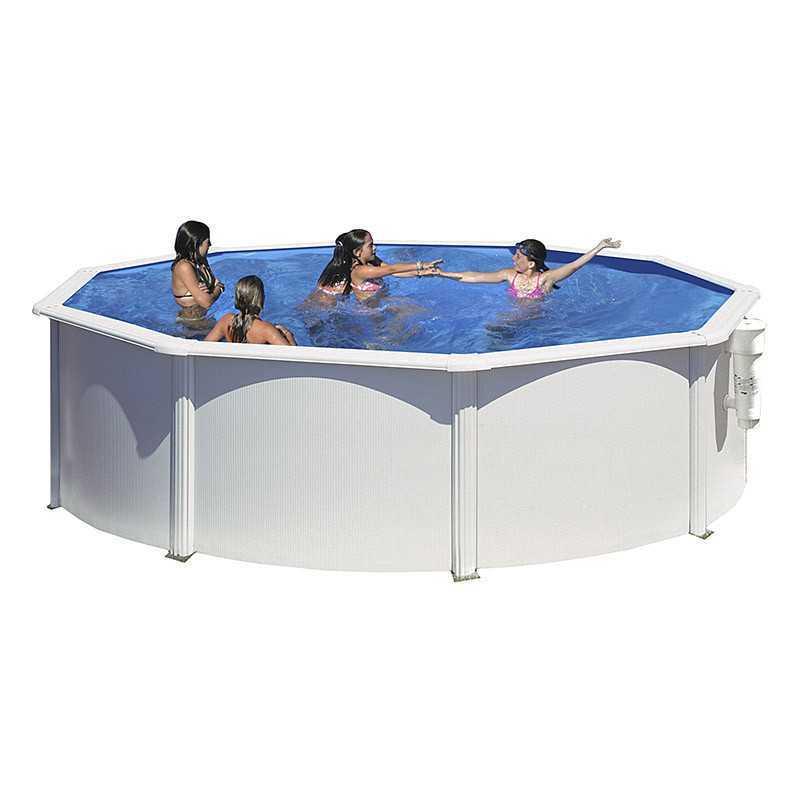 Piscina de acero redonda gre serie bora bora piscinas y for Repuesto piscina gre