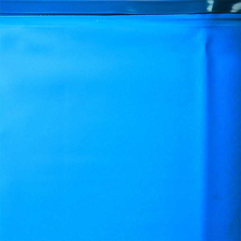Liner bleu ronde  Ø 2400x1200 mm. 40/100 - fixation rail accroche Gre FPR241