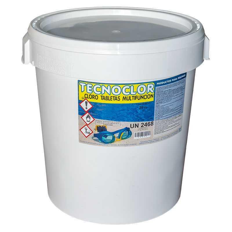 Chlore en galets multifonctions 25 kgs. Tecnoclor