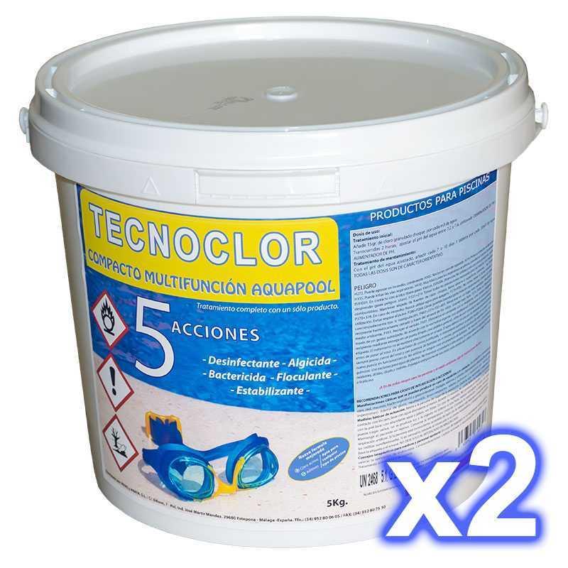 Oferta 2 cubos de cloro de 5 Kg c/u