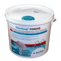 Chlorilong POWER 5. Cloro tabletas multifunción. BAYROL.