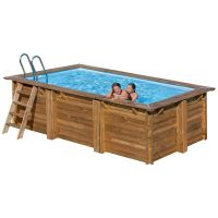Piscina rectangular de madera Gre Sunbay Marbella. 400x250x119 cm.