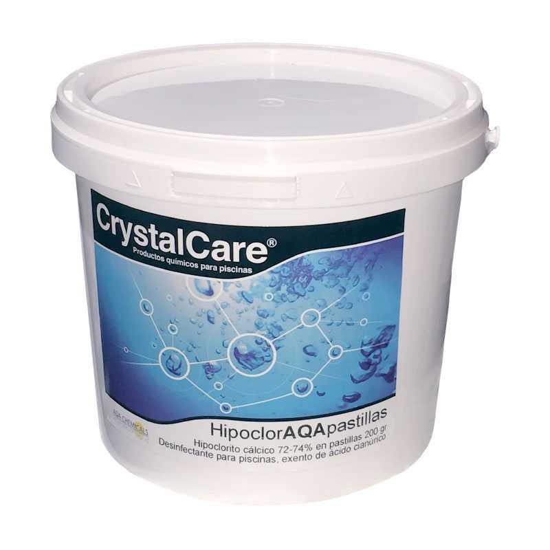 Hypochlorite de calcium en galets 5 kgs. Crystalcare