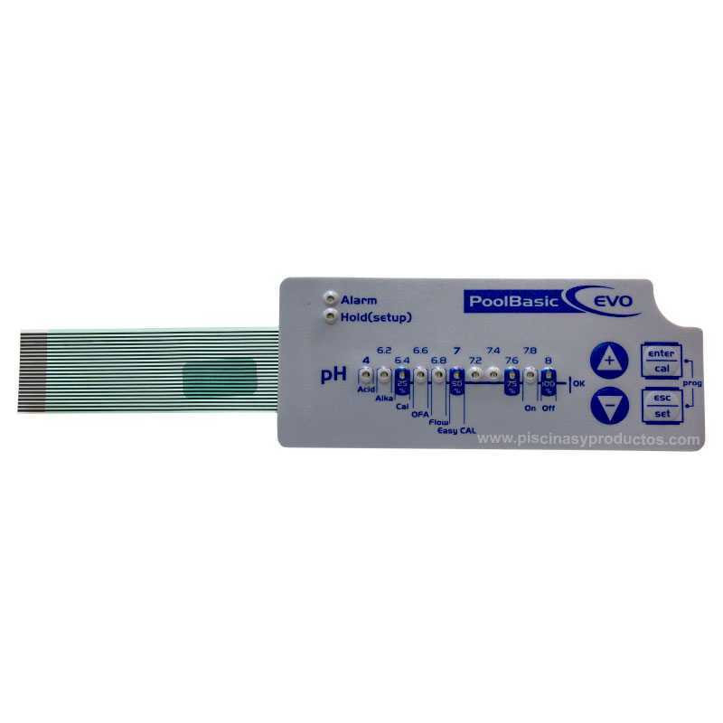 Clavier Led  régulateur automatique Pool Basic Evo pH