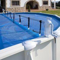 Enrollador de cubierta para piscinas elevadas Gre