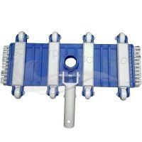 Limpiafondos flexible 35 cm con ruedas y cepillo