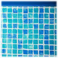 Liner couleur carrelage pour piscine hors-sol ovale 8100x4700x1200 mm. Gre