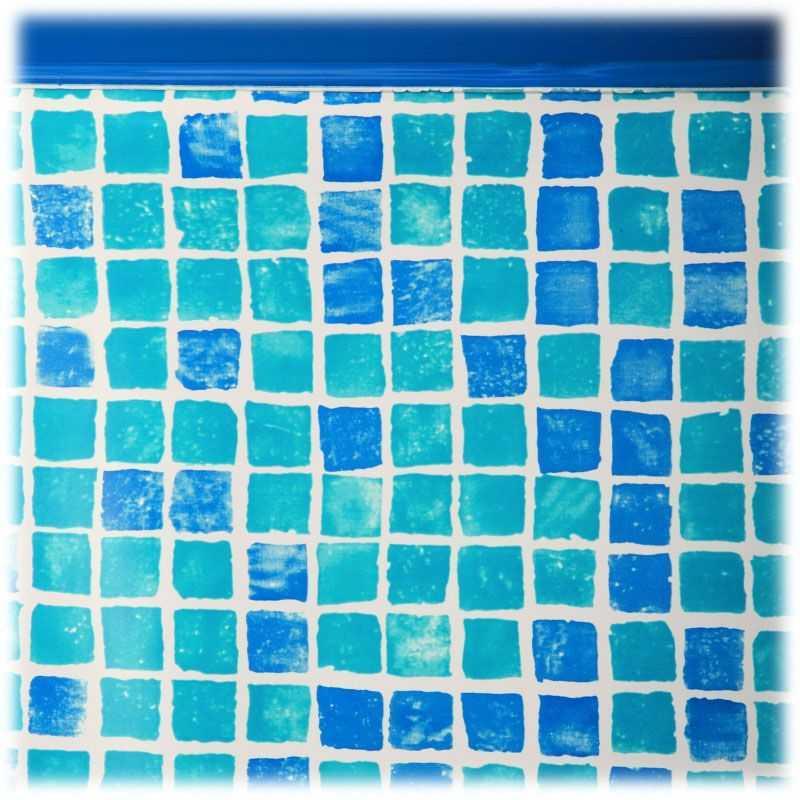 Liner couleur carrelage pour piscine hors-sol ronde Ø 5500 x 1320 mm. Gre