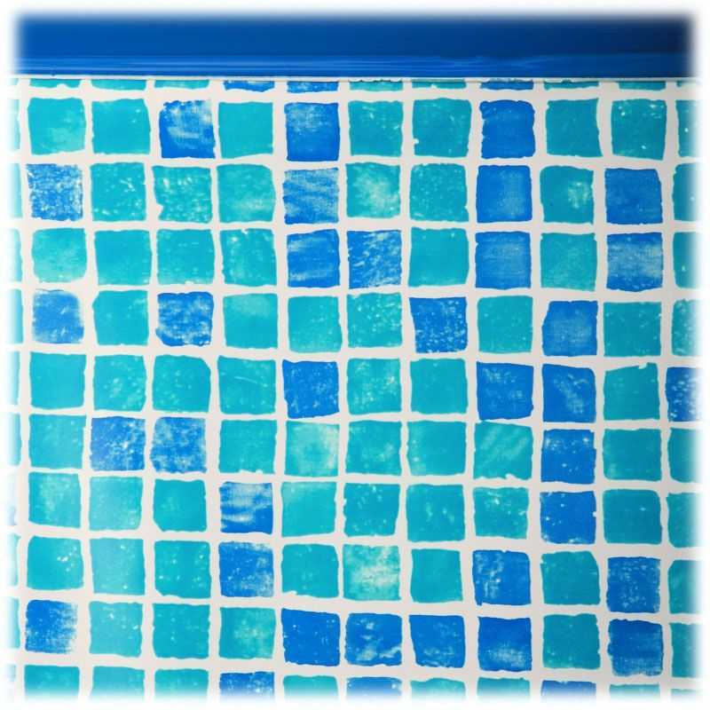 Liner couleur carrelage pour piscine hors-sol ovale 7300x3750x1320 mm. Gre