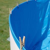 Liner bleu pour piscine hors-sol ovale 7300x3750x1320 mm. Gre