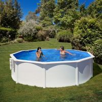 Piscina acero color blanco Gre Star Pool P550ECO