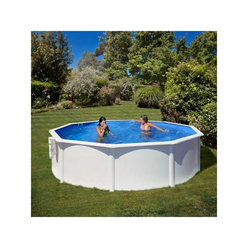 Piscina acero color blanco Gre Star Pool P460ECO