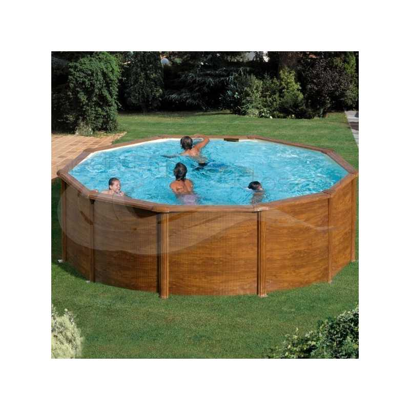 Piscina acero imitación madera Gre Star Pool P460W