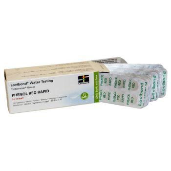Réactifs pastilles Phénol Red Rapid pour pooltester (trousse test manuel) (100 un.) Lovibond